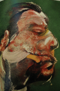 Study for head by Francis Bacon of George Dyer. 1967