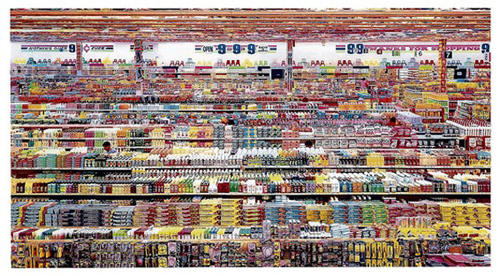 """99 Cent II, Diptych"" Andreas Gursky."