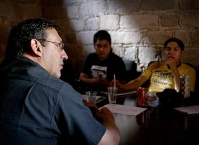 hristan Poveda en el último taller que impartió. San Luis Potosí, México.