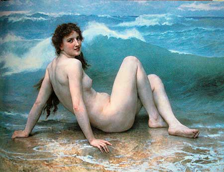 William-Adolphe Bourguerau, La Vague, 1886. From David Hockney's book, p. 195.